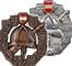Leistungsabzeichen in Bronze und Silber